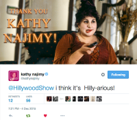 KATHY NAJIMY APPROVES OF #HOCUSPOCUSPARODY!