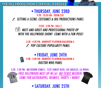 HILLYWOOD VIDCON SCHEDULE!  ALSO FREE HILLYWOOD MEETUP IN LOS ANGELES!