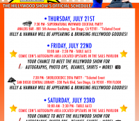 THE HILLYWOOD SHOW'S OFFICIAL #SDCC SCHEDULE IS HERE!