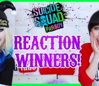 NEW VIDEO!  THE WINNERS OF THE #SUICIDESQUADPARODY REACTION VIDEO CONTEST HAVE BEEN ANNOUNCED!